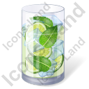 Alcohol Cocktail Mojito Icon, AI,