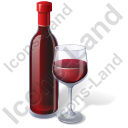 Alcohol Wine Red Wine Bottle Icon, PNG/ICO, 128x128