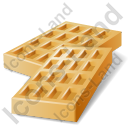 Baked Good Wafer Icon, PNG/ICO, 128x128
