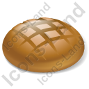 Bread Brown Bread Icon, PNG/ICO, 128x128