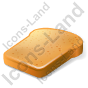 Bread Toast Icon, PNG/ICO, 128x128