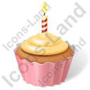 Cake Birthday Cupcake Icon, PNG/ICO, 128x128