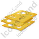 Cheese Sliced Icon, PNG/ICO, 128x128