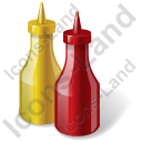 Condiment Ketchup Mustard Icon