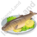 Dish Fish Trout Grilled Icon