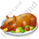 Dish Roasted Pig Icon