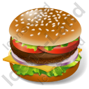 Fast Food Hamburger Icon