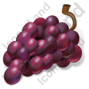 Fruit Grapes Purple Icon, PNG/ICO, 128x128