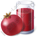 Juice Pomegranate Juice Icon, PNG/ICO, 128x128