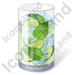 Alcohol Cocktail Mojito Icon, AI, 256x256