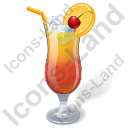 Alcohol Cocktail Tequila Sunrise Icon, PNG/ICO, 256x256