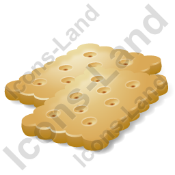 Baked Good Cracker Icon, AI, 256x256