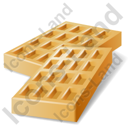 Baked Good Wafer Icon, PNG/ICO, 256x256