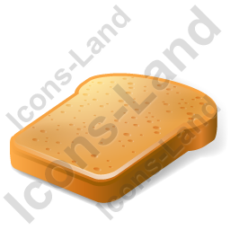 Bread Toast Icon, PNG/ICO, 256x256