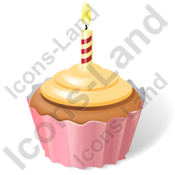 Cake Birthday Cupcake Icon, PNG/ICO, 256x256