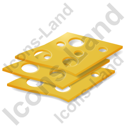 Cheese Sliced Icon, PNG/ICO, 256x256