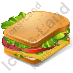 Fast Food Sandwich Icon