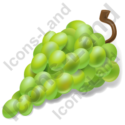 Fruit Grapes White Icon, PNG/ICO, 256x256