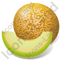 Fruit Melon Icon, PNG/ICO, 256x256
