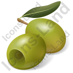 Fruit Olive Green Icon, PNG/ICO, 256x256