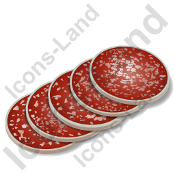Meat Salami Sliced Icon