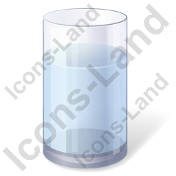 Water Glass Icon, PNG/ICO, 256x256