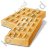 Baked Good Wafer Icon, PNG/ICO, 48x48