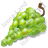 Fruit Grapes White Icon, PNG/ICO, 48x48