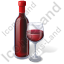 Alcohol Wine Red Wine Bottle Icon, PNG/ICO, 64x64