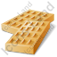Baked Good Wafer Icon, PNG/ICO, 64x64