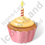 Cake Birthday Cupcake Icon, PNG/ICO, 64x64