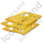 Cheese Sliced Icon, PNG/ICO, 64x64