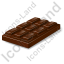 Confection Chocolate Bar Icon, PNG/ICO, 64x64