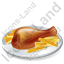 Dish Chicken Leg Icon