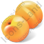 Fruit Apricot Icon, PNG/ICO, 64x64