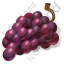 Fruit Grapes Purple Icon, PNG/ICO, 64x64