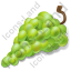 Fruit Grapes White Icon