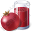 Juice Pomegranate Juice Icon, PNG/ICO, 64x64