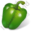 Vegetable Bell Pepper Green Icon, PNG/ICO, 64x64