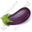 Vegetable Eggplant Icon, PNG/ICO, 64x64