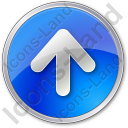 Arrow Up Circle Blue Icon, PNG/ICO, 128x128