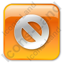 Cancel Box Orange Icon, PNG/ICO, 128x128
