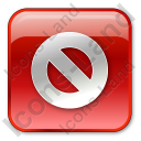 Cancel Box Red Icon