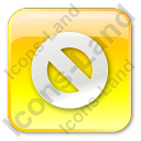 Cancel Box Yellow Icon, PNG/ICO, 128x128