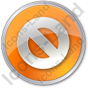 Cancel Circle Orange Icon