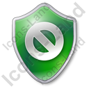 Cancel Shield Green Icon