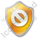 Cancel Shield Yellow Icon, PNG/ICO, 128x128