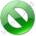 Cancel Green Icon