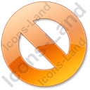 Cancel Orange Icon, PNG/ICO, 128x128