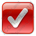 Checked Box Red Icon, PNG/ICO, 128x128